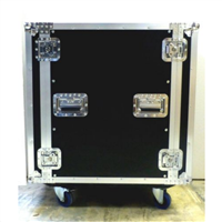 "LASE PRO 16 Space ATA Amp Rack 24"" Deep Road Case"