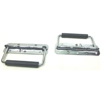 (2) Two Chrome Surface Spring Mounted Handles For ATA Cases