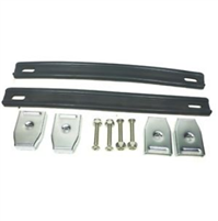 (2) Two Black Heavy Duty Strap Handles with Chrome Ends