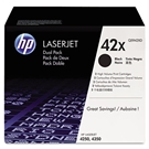 Genuine HP 4350 Toner High Capacity Q5942XD Dual Pack
