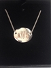 Monogram Disc Neckalce