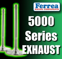 "F5040 1.650"" X 5.060"" Exhaust Ferrea 5000 Series Hi Performance Valves Fits: SB Chevy & Ford Cleveland 11/32"""