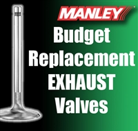 "10649-1  1.600"" X 4.910"" Exhaust Manley Budget Replacement Valves Fits: SB Chevy 11/32"""