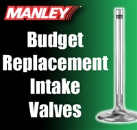 "10476-1  1.940"" X 4.880"" Intake Manley Budget Replacement Valves Fits: SB Chevy 11/32"""
