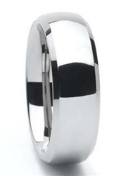 Tungsten Classic Bevel Edge Wedding Band