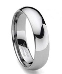 Classic Dome 6mm Tungsten Wedding Band