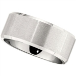 10mm Dura Cobalt Ring Bevel Edge Polished and Satin Center