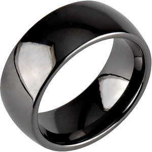8mm classic dome black ceramic ring - Ceramic Wedding Rings