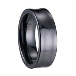 Concave Ceramic Ring in Black or White