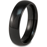 6mm Classic Dome Black Ceramic Ring