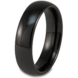 6mm classic dome black ceramic ring - Ceramic Wedding Rings