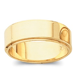 14K Yellow Gold Step Down Wedding Band in 8mm