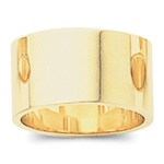 14K Yellow Gold 12mm Flat Band
