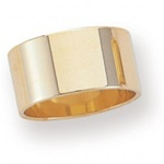 14K Yellow Gold 10mm Flat Band