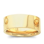 14K Yellow Gold 8mm Flat Band