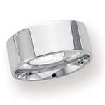 14K White Gold 8mm Flat Band