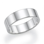 14K White Gold 6mm Flat Band