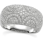 14K White Gold 3/4 ct. Diamond Pave Band with 143 Diamonds
