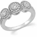 14K White Gold 1/2 ct. Diamond Pave Engagement Ring