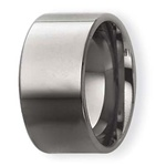 Platinum 10mm Flat Wedding Ring