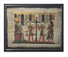 Weighing of heart before Ra by Anubus and Thoth Framed Papyrus #23
