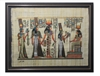 Nefertari presented by Isis to Hathor Framed Papyrus #46