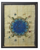 Temple of Dendera Zodiac Framed Papyrus #66