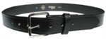 "1 1/4"" Black Leather Belt"