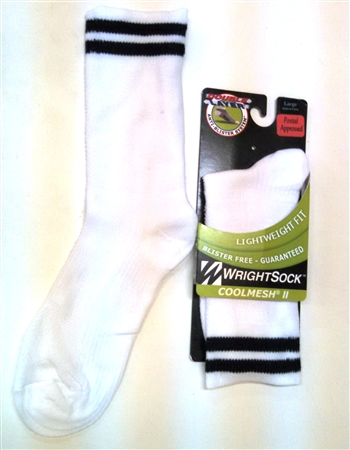 NEW Wright Cool Mesh II White Crew Socks