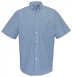 W/C Old Style Stripes Mens Short Sleeve Button Down