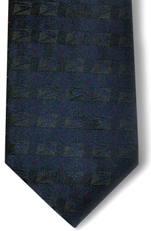Mens Blue Clip On Tie 18""