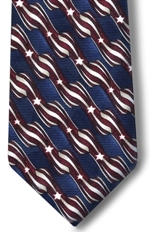 Mens Stars and Stripes tie your self tie 61""