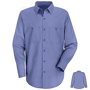 Medium Blue Long Sleeve Shirt, Tall and Extra Tall