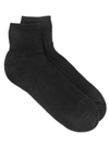 Black Mini Crew Socks