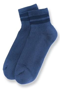 Blue Padded Mini Crew Socks