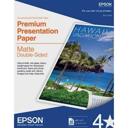 "EPSON DOUBLE SIDED MATTE 8.5X11"" (50 SHEETS)"