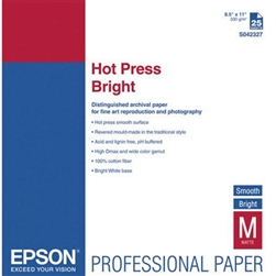 "EPSON HOT PRESS BRIGHT 8.5X11"" (25 SHEETS)"