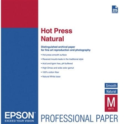 "EPSON HOT PRESS NATURAL 13X19"" (25 SHEETS)"