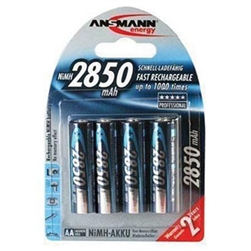 ANSMANN AA NICKEL METAL HYRIDE RECHARGABLE BATTERIES (4 PACK)