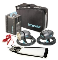 BRONCOLOR SENSO KIT A4 POWER PACK AND TWO LITOS HEADS