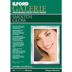 "ILFORD GALERIE SMOOTH GLOSS (8.5X11"") 100 SHEETS"