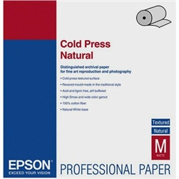 "EPSON COLD PRESS NATURAL FINEART MATTE 24""X50'"