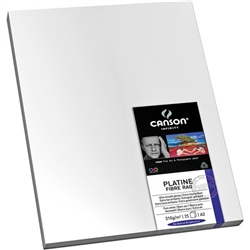 "CANSON INFINITY PLATINE FIBRE RAG 17X22"" (25 SHEETS)"