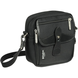Billingham Stowaway Pola Shoulder Bag (Black/Black Leather)