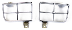 1977 - 1978 Firebird / Trans AM Park Light Lamp Turn Signal Chrome Bezels, PAIR