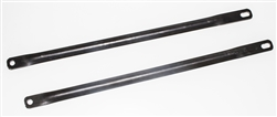 1977 - 1981 Firebird and Trans Am Fender Brace to Core Support Reinforcement Bars, Raw Steel, Pair