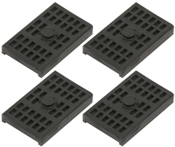Rear Multi Leaf Spring Rubber Insulator Pads, Set of 4