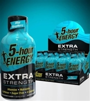 5 Hour Energy Extra Strength Blue Raspberry Shot 12/59ml Sugg Ret $4.99
