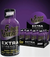 5 Hour Energy Extra Strength Grape Shot 12/59ml Sugg Ret $4.99***PROMO RETAIL 2 for $8.00***