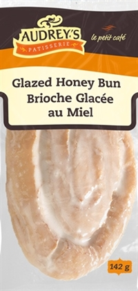 Audrey's Glazed Honey Bun 9/142g Sugg Ret $2.59***Promo Retail 2 For $3.49***